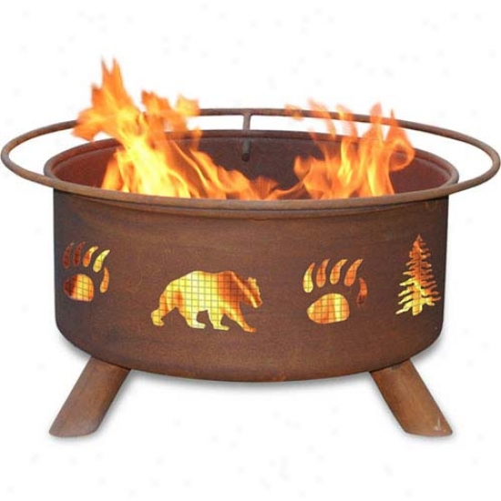 Patina 30  Trees & Bear Fire Pit