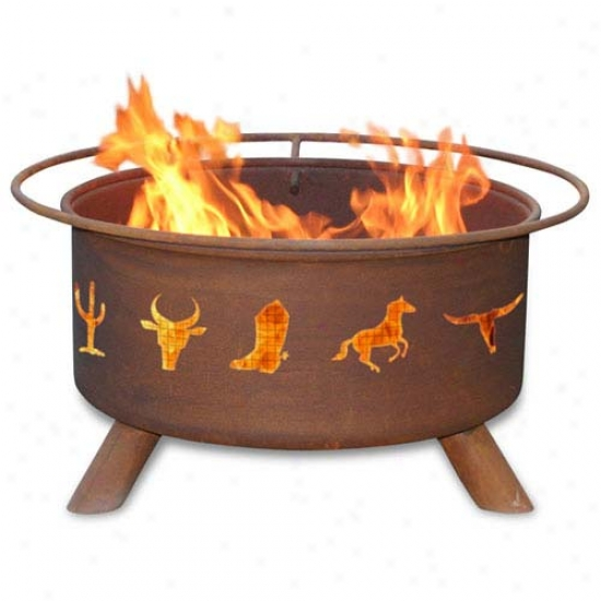 Patina 30  Western Cowboy Fire Pit