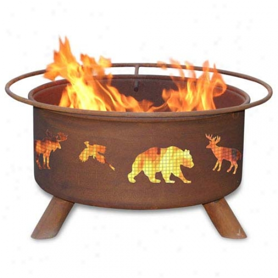 Patina 30  Wlidlife Fire Pit