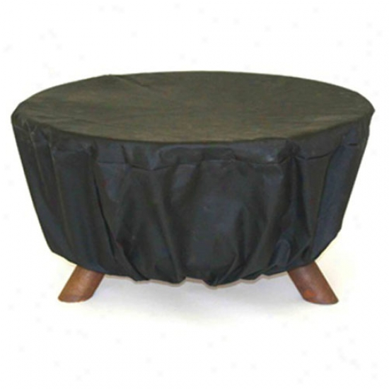 Patina 32  Fier Pit Cover - Black