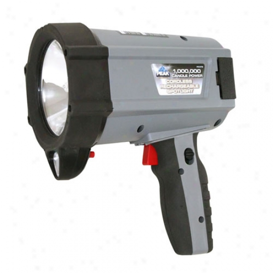 Peak 1 Million Candlepower Cordless Spotlight