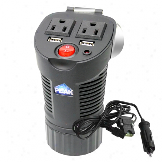 Peak 150 Watt Cup Power Inverter