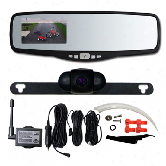 Peak 3.5 Inch Rear Sketch Mirror With Back Up Camera