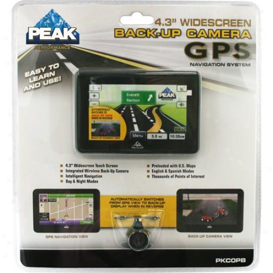 Peak 4.3  Gps Navigation System With Back-up Cqmera