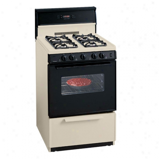 Premier 24  Electronic Ignition Gas Range - Bisque