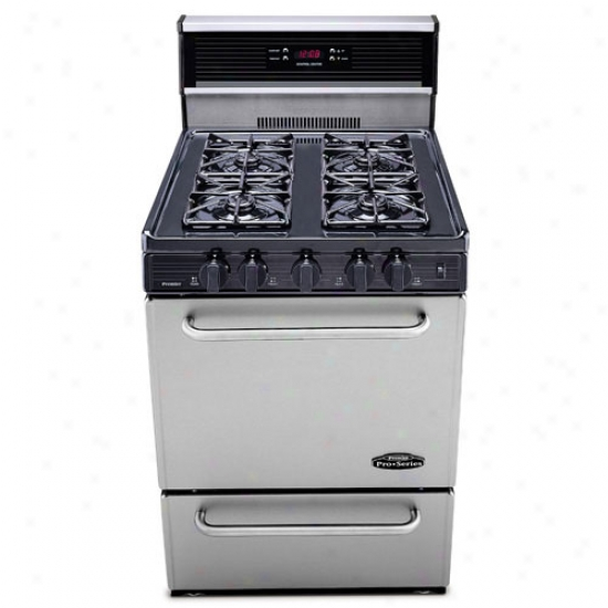 Premier 24  Pro Series Electronic Igniiton Gas Range With Clock/timer