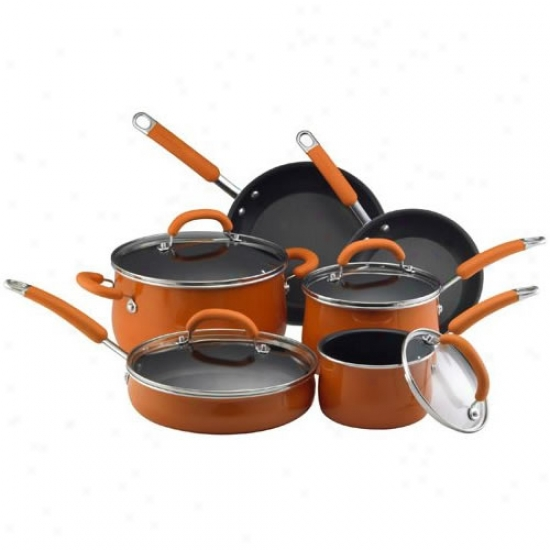 Rachael Ray Porcelain Enamel 10 Piece Cookware Set