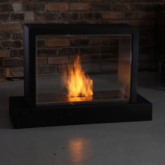 Real Flame 36  Insight Gel Fireplace - Black