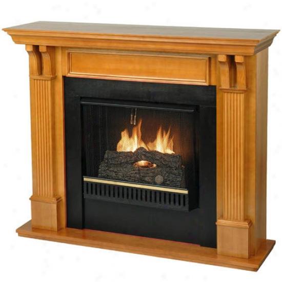 Real Flame 48  Ashley Gel Fireplace - Oak