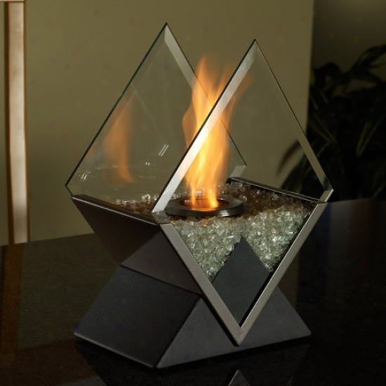 Real Flame Diamond Burner Personal Fireplace