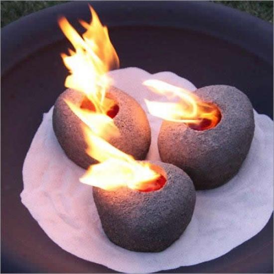 Real Flame Fire Rocks