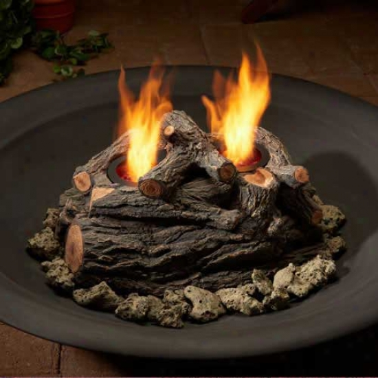Real Flame Log Set
