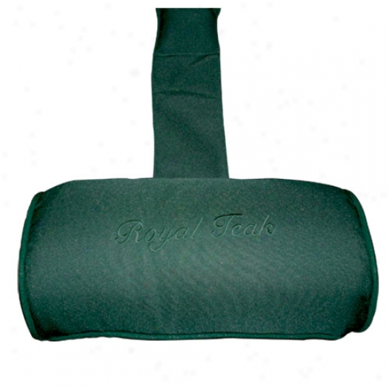 Royal Teak Collection Neck Roll Cushion - Hunter Green