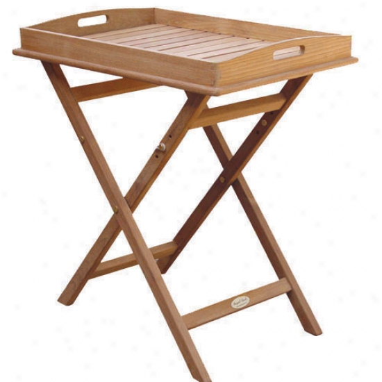 Royal Teak Collection Tray On Stand