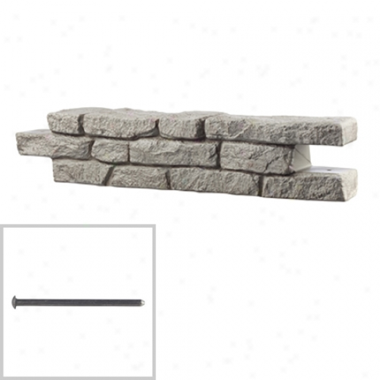 Rts Rock Lock Straight Wall Section With Steel Spike