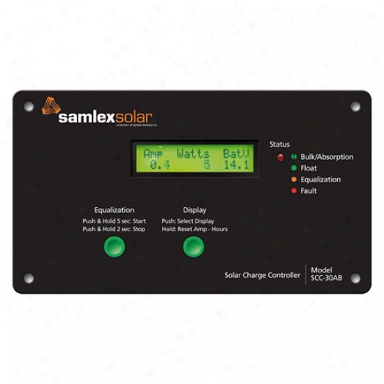 Samlex Flush Mount Solar Charge Controller 30 Amp With Lcd Exhibit