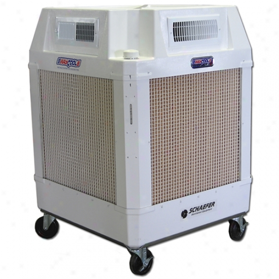 Schaefer Waycool 1 Hp 220v Portable Evaporative Manual Fill Cooler W/ 360 Degree Directional Air Flow