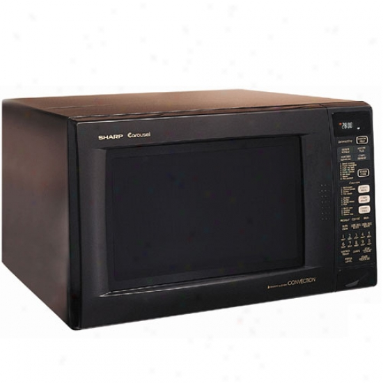 Sharp 1.5 Cu. Ft. 900 Watt Countertpp Convection / Microwave - Black