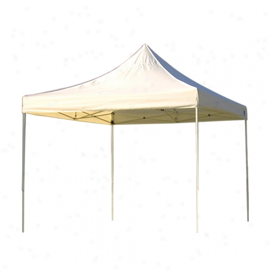 Shelterlogic 10' X 10' Straight Leg Popup Truss Top Canopy - White