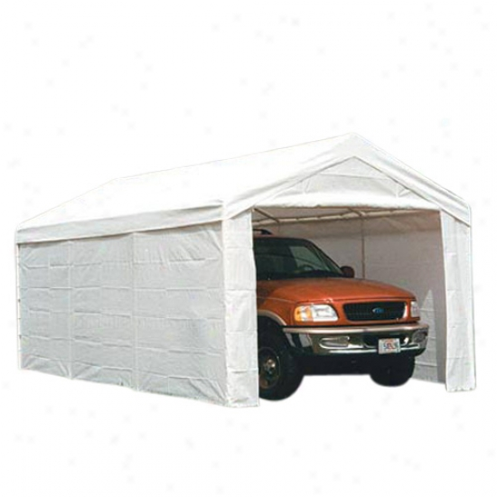 Shelterl0gic 10' X 20' Canopy Enclosure Kit Fits 2  Frame - White