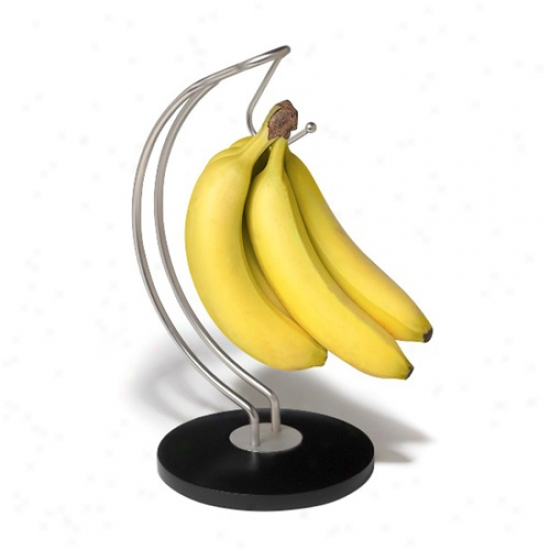 Sierra Banana Holder - Black And Nickel
