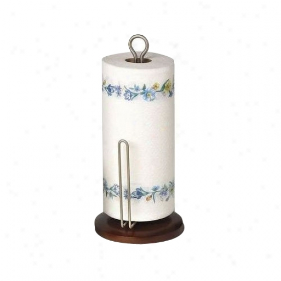 Sierra Paper Towel Holder - Blacl And Nickel