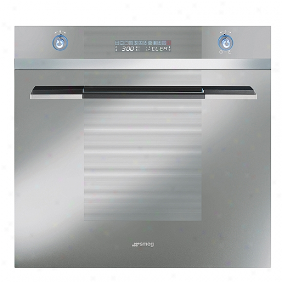 Smeg 24-inch Linea Design Electric Multifunctlon Wall Oven