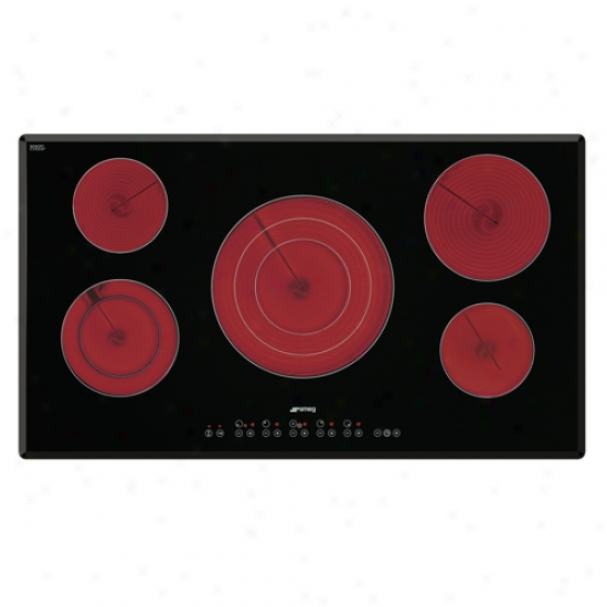 Smeg 36-inch Electric Ceramic Cooktop Witn 5 Radiant Zones