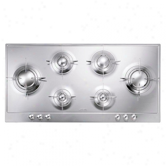 Smeg 39-inch Piano Design Stainless Steel Gas Cooktop