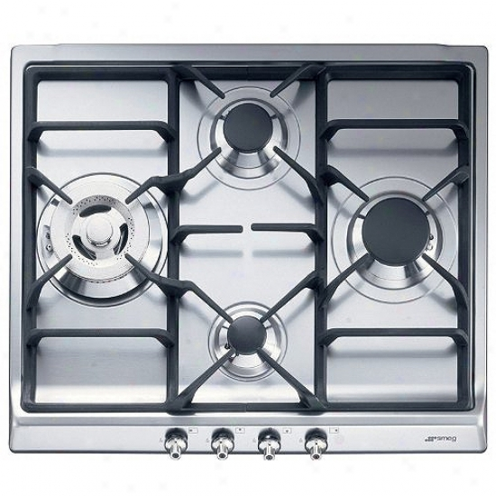 Smeg Classic Drsign 24 Inch Stainless Steel Cooktop