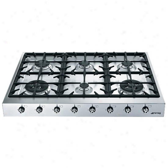 Smeg Classc Prkfessional Style 35 Inch Gas Cooktop