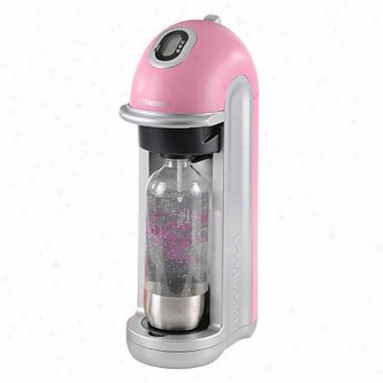 Sodastream Fizz Pink And Silver Susan G. Komen Soda Maker With Starter Kit