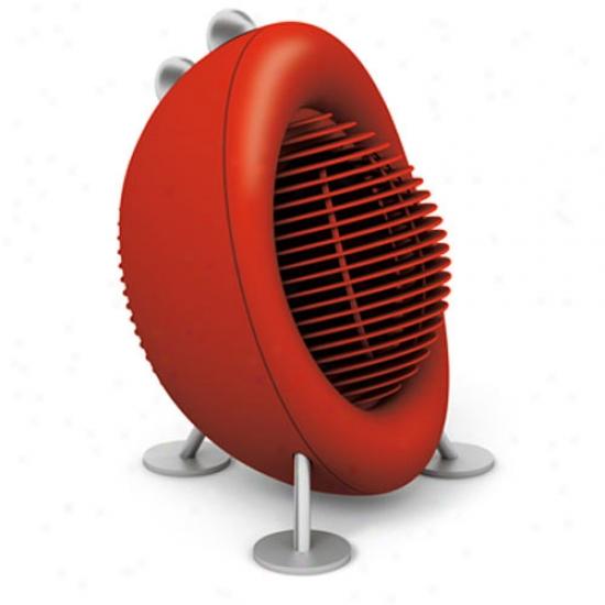tSadler Form Max Fan Heater - Red