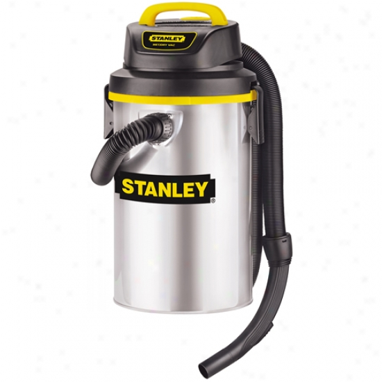 Stanley 4.5 Gallon Hang Up Stainless Steel Wet/dry Vacuum