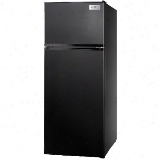 Summit 10 Cu. Ft. Refrigerator W/ Built-in Icemaker - Black