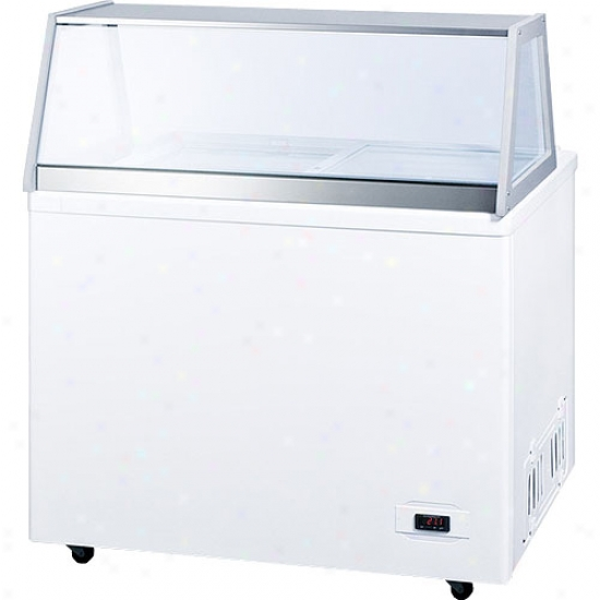 Summit 10.6 Cu. Ft. Trading Iec Cream Freezer With Deluxe Dipping Cabinet