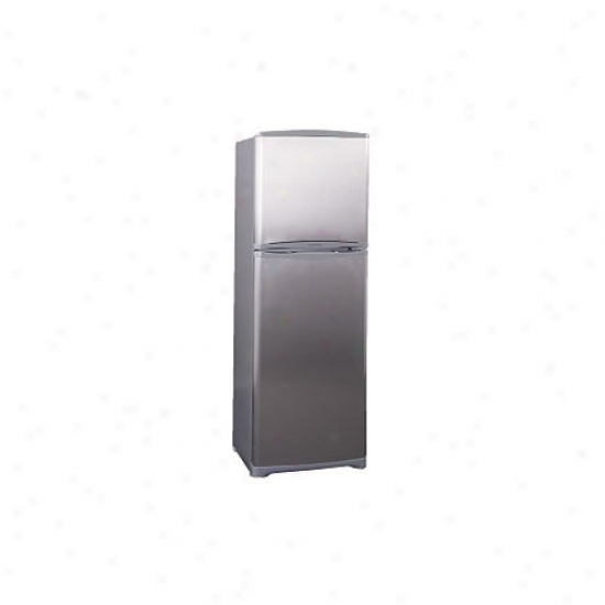 Top 11 Cu. Ft. Frost-free Refrigerator W/ Icemaker - Stainless Steei