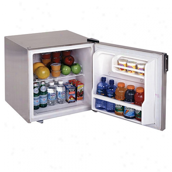 Summit 1.8 Cu. Ft. Stainless Armor Envelop All Refrigerator W/ Lock