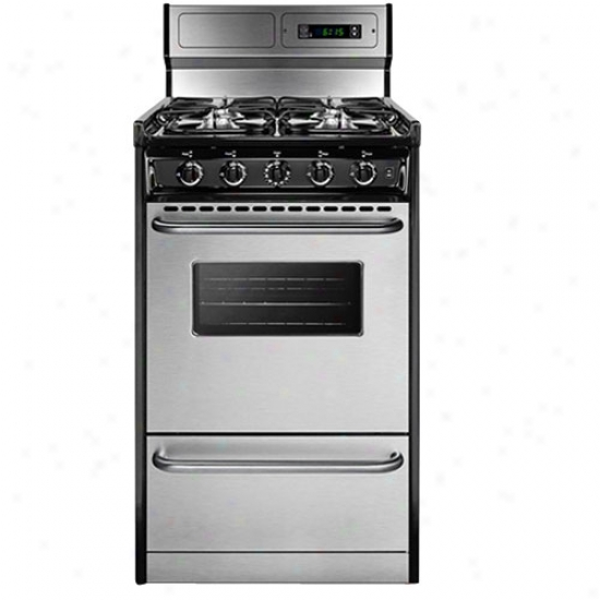 Summit 20  Gas Range - Stainless Case-harden