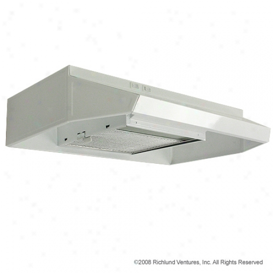Top 24  Recirculating Range Vent Hood - White