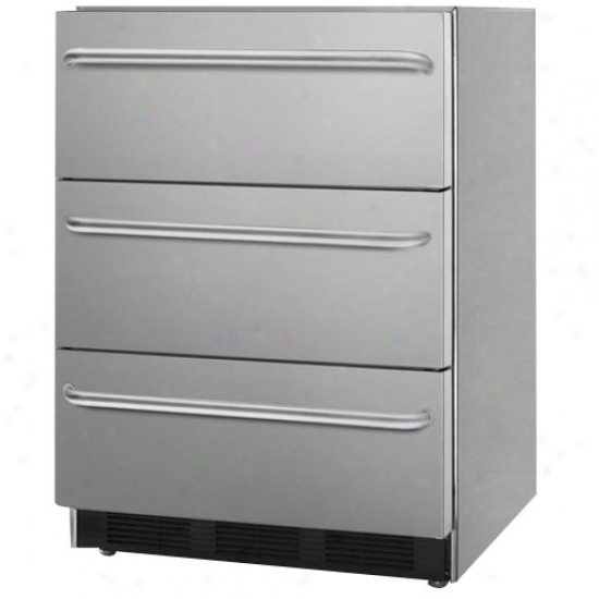 Summit 3 Drawer Fridge With Towelbar Handles