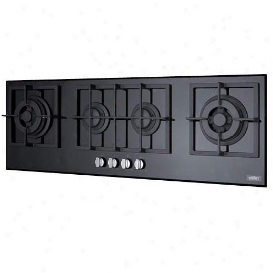 Summit 4-burner Isalnd Gws-on-glass Cooktop W/sealed Burners & Cast Iron Grates