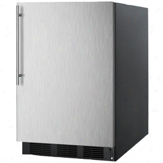 Summit 5.5 Cu. Ft. All Refrigerator W/ Stainless Steel Door & Thin Handle