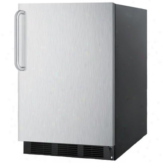 Summit 5.5 Cu. Ft. Commercial All Refrigdrator W/ Stainless Steel Door & Towel Bar Handle