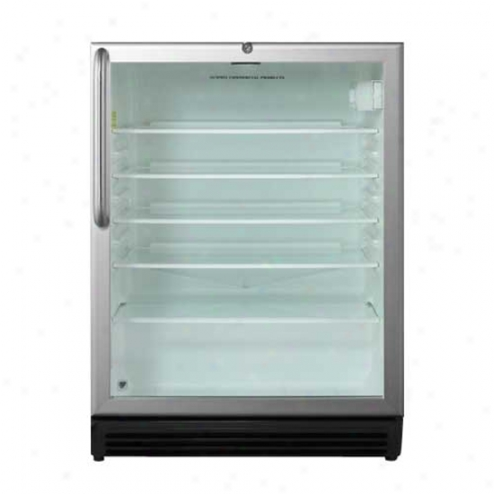Summit 5.5 Cu Ft Outdoor Glass Door Re frigerator