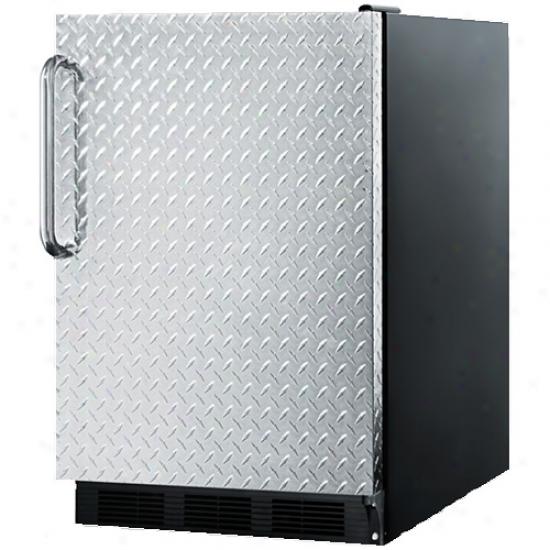 Summit 5.5 Cu. Ft. Refrigerator W/ Diamond Piate House
