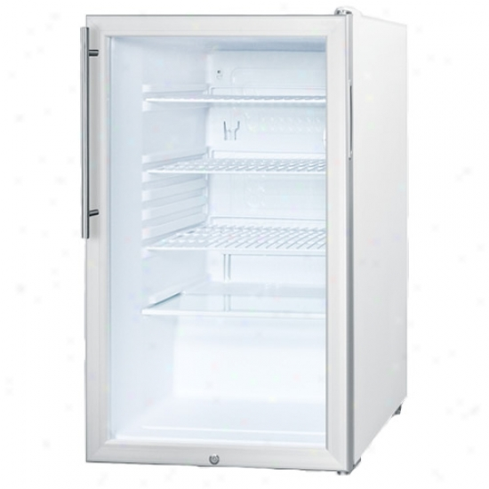 Summit Ada 20  Glass Door Built In Refrigerator