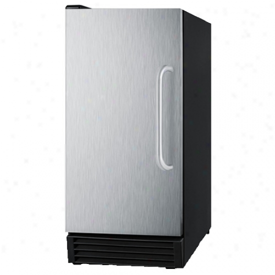 Summit Bim44 Clear Ice Maker - Stainless Steel