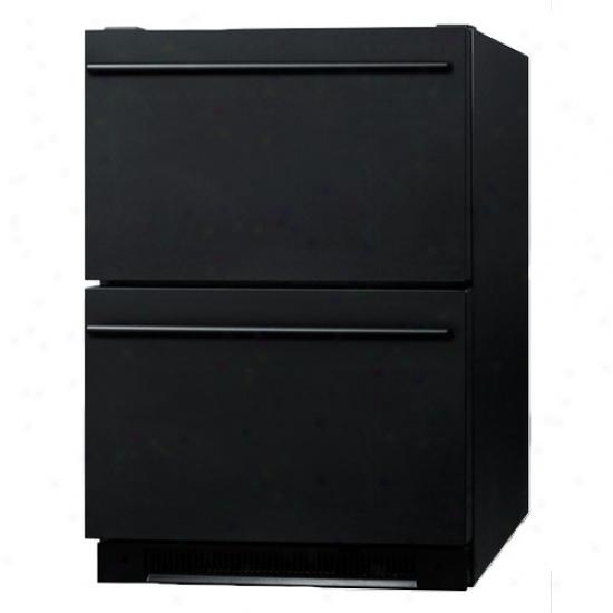 Summit Black Built In Drawer Refrigerator