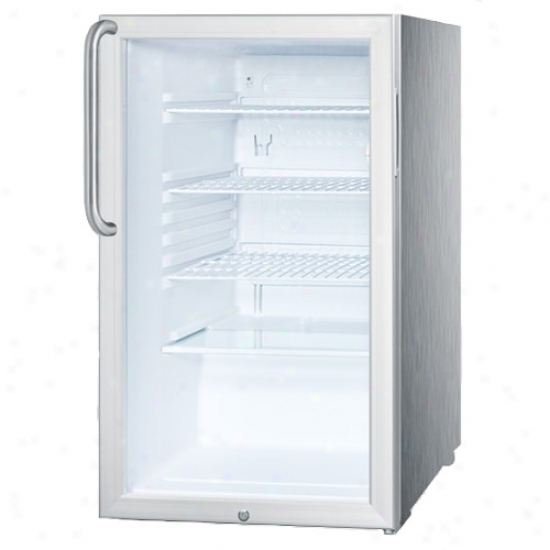 Top Commercial Ada 20  Glass Door Spotless Steel Built In Refrigerator